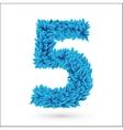 Five 5 number vector image