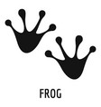 frog step icon simple style vector image