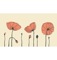 Hand-drawn poppies vector image