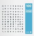 Home Household icon set vector image