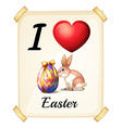 I love Easter vector image