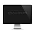 Modern computer monitor with black screen vector image