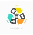 Recycle sign isolated vector image