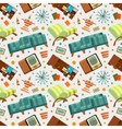 Seamless pattern with the living room stuff vector image