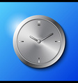 Stainless Steel Wall Clock vector image
