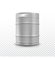 Metal beer keg with grained vector image