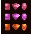 Cartoon of gems and diamonds vector image vector image