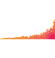 Pixel red orange Background for card or poster - vector image