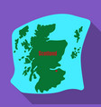scotland the mapscotland is a country on the vector image