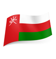 State flag of Oman vector image vector image