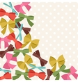 Background with abstract various bows and ribbons vector image vector image