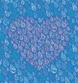 Love and rain vector image