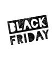 Black Friday sale scribble grunge stamp on white vector image
