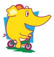 Cycle Elephant vector image