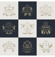Design cards ornamental decorative logos vector image
