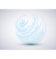 Sphere background vector image