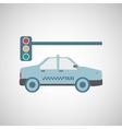 taxi transportation semaphore signal vector image