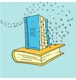 Book art vector image