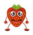 cartoon tasty strawberry fruit vector image