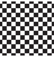 checkerboard seamless pattern black and white vector image