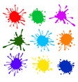 Colorful splatters vector image