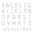 Full hand drawn alphabet with numbers vector image