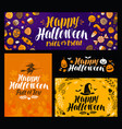 halloween trick or treat banner holiday symbol vector image