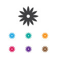 of gardening symbol on aster vector image