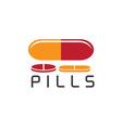 pills design template vector image