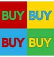 Pop art buy icons vector image