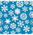 Seamless pattern of paper snowflakes vector image
