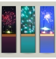 Set of banners with fireworks vector image