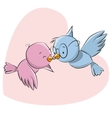 Two Cute Birds vector image