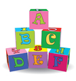 Letter cube toys vector image