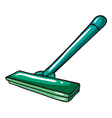 A green mop vector image