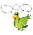 A green bird vector image vector image