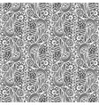 seamless white pattern on black background vector image