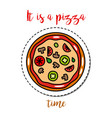 fashion patch element pizza vector image