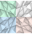 Origami backgrounds in four colors vector image vector image