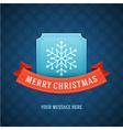 Merry Christmas postcard ribbons and snowflake vector image vector image