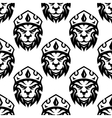 Seamless pattern of a crowned royal lion vector image vector image