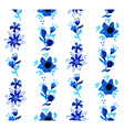 Watercolor floral seamless pattern background vector image