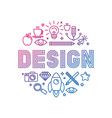linear logo design concept vector image vector image