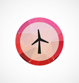 wind mill circle pink triangle background icon vector image