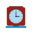 Vintage alarm clock flat icon vector image vector image