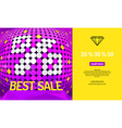 Background with inscription sale vector image