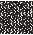 Seamless Black And White Jumble ZigZag vector image
