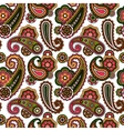 Arabic paisley pattern on white background vector image