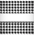 Classic houndstooth pattern vector image