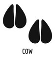 cow step icon simple style vector image